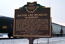 Dayton & Michigan Railroad Historic Marker