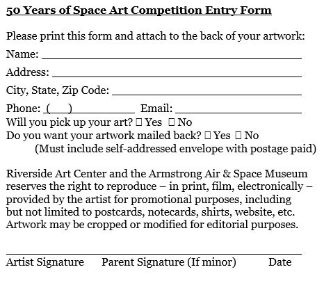 50 Years of Space Art Competition Entry Form