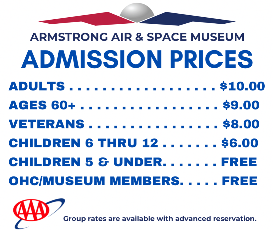 Armstrong Museum admission prices