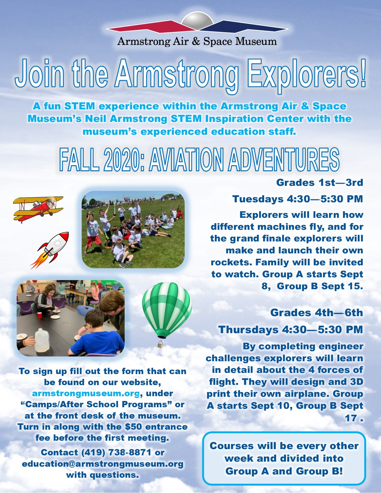 Armstrong Explorers Fall 2020