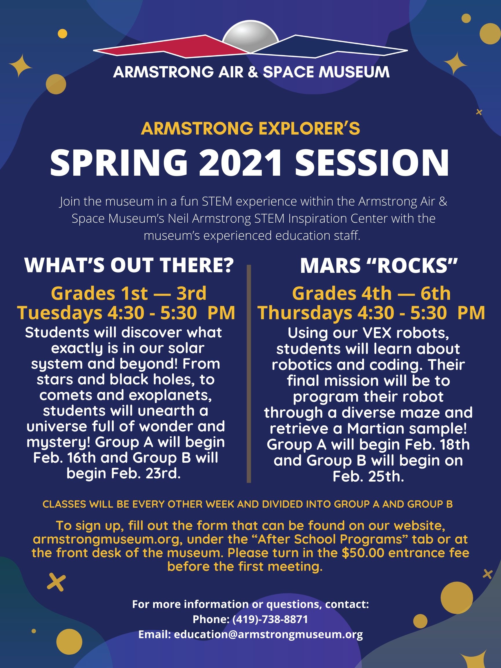 Spring 2021 Armstrong Explorers