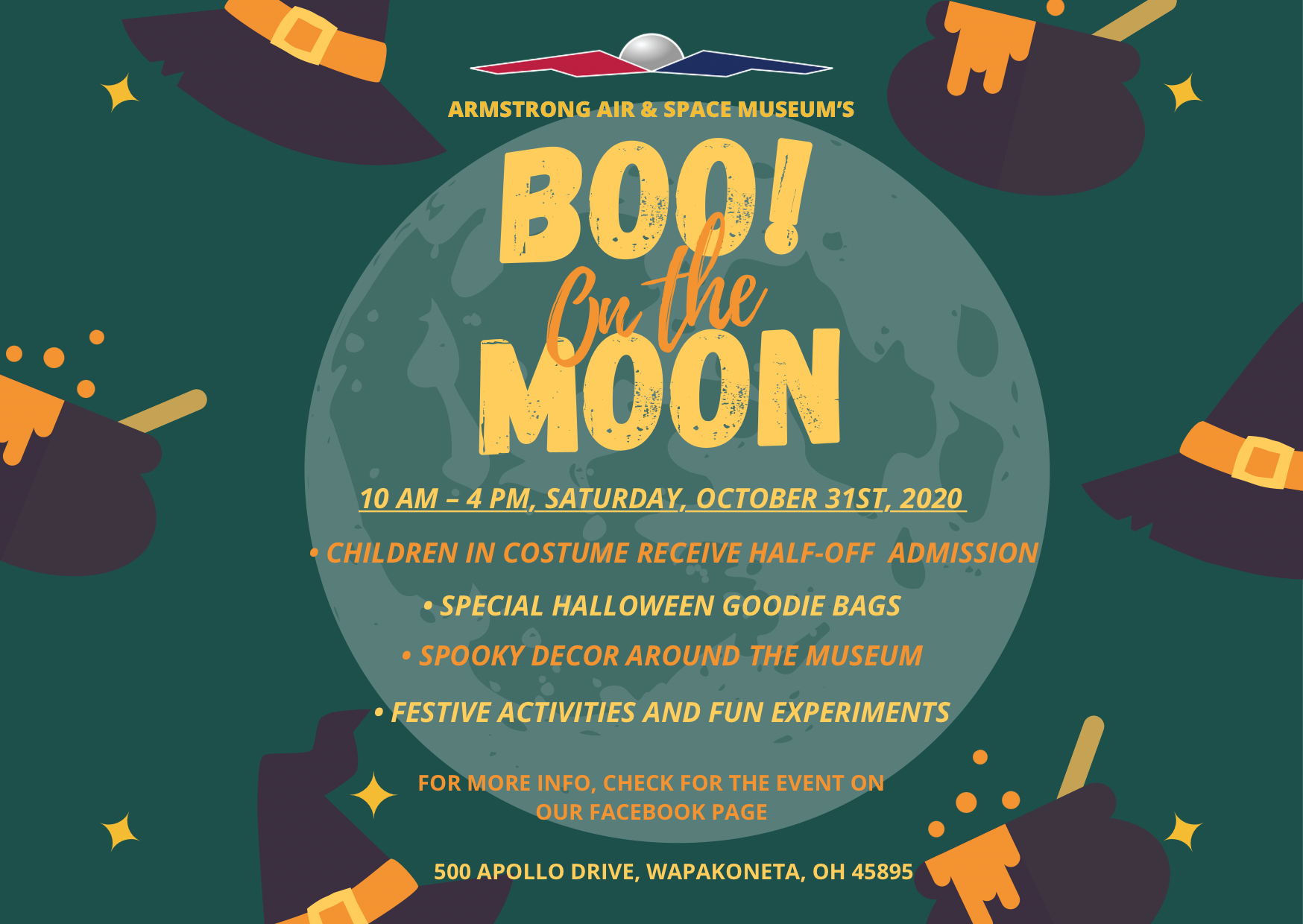 Logo for the 2020 Boo! On the Moon