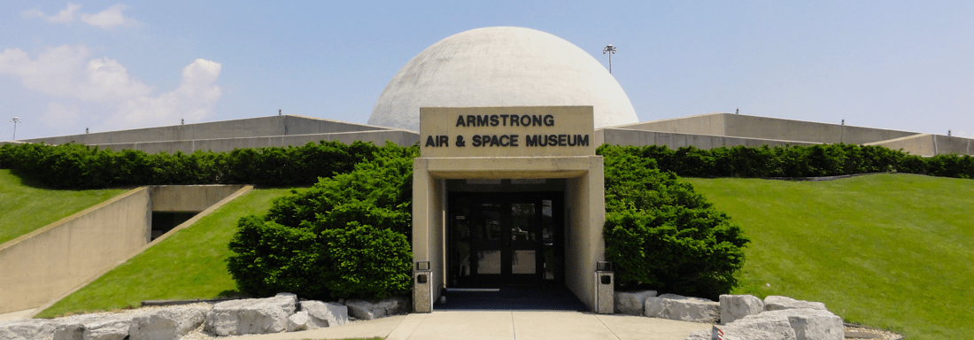 Armstrong Air and Space Museum Front Exterior